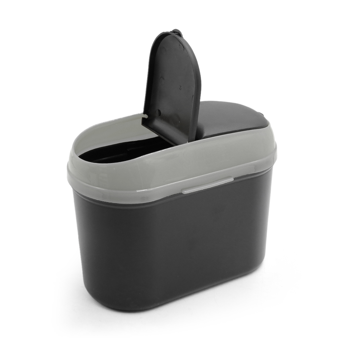 Gray Black Car Trash Rubbish Can Garbage Dust Dustbin Box Case Holder Bin