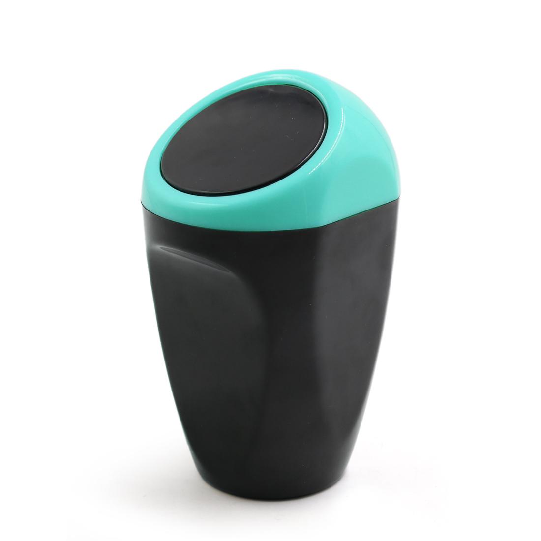 Black Blue Plastic Mini Car Trash Rubbish Can Garbage Dust Case Holder Box Bin