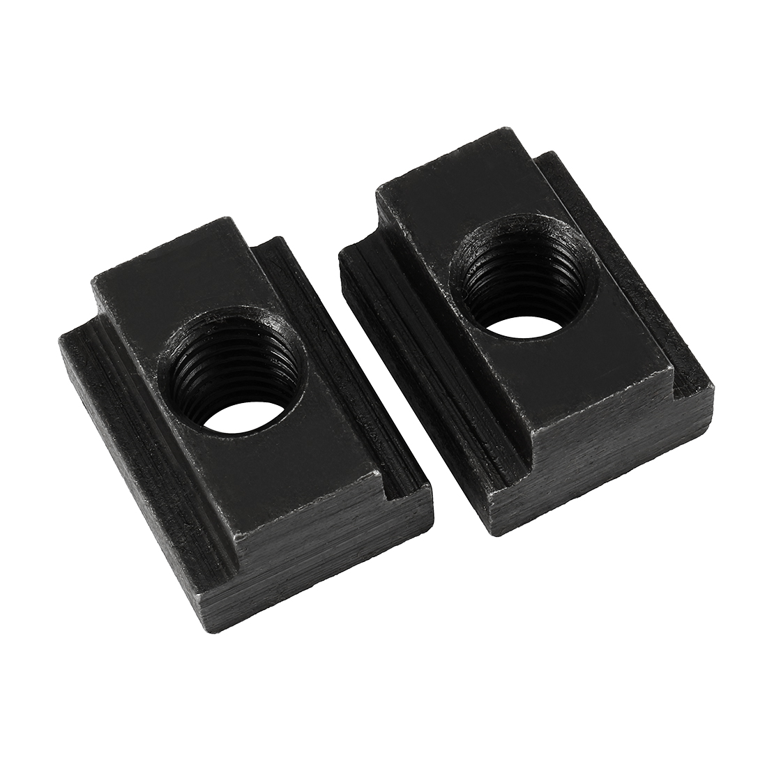 M12 Thread T-Slot Nut Black Oxide Plated Grade 8.8 Tapped Through 2pcs