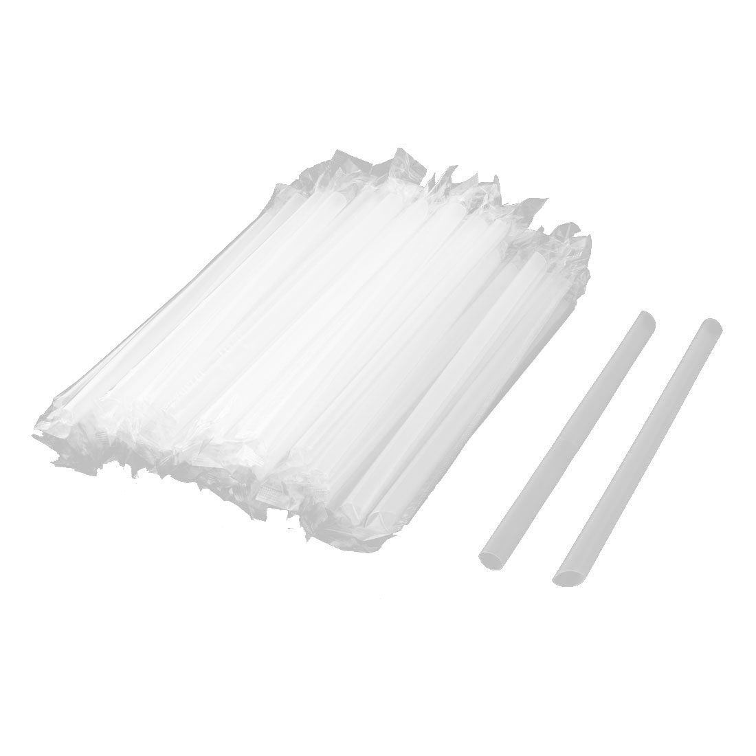 Birthday Party PP Drinking Water Coffee Juice Tea Disposable Straws Clear 100 Pcs