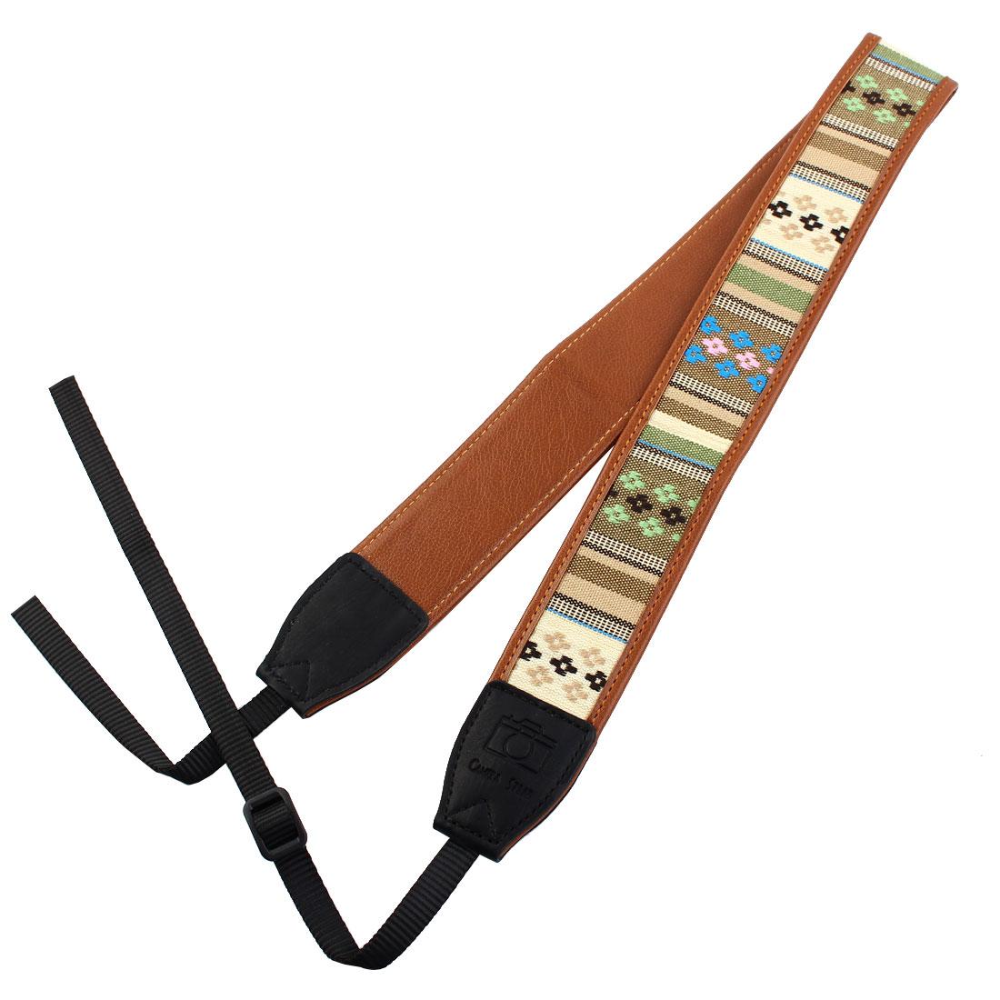 SHETU Authorized Universal Faux Leather Camera Shoulder Neck Strap for SLR DSLR