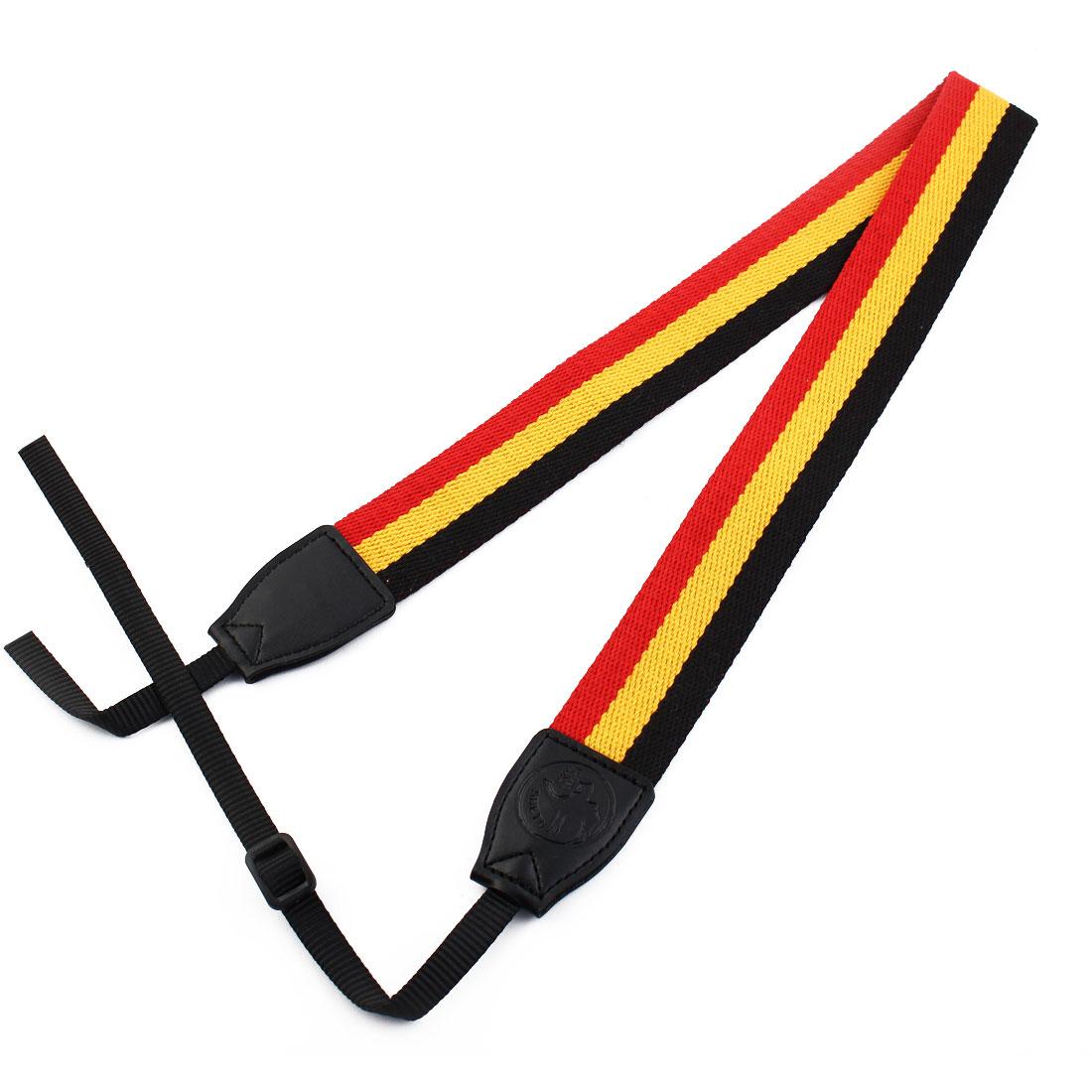 SHETU Authorized DSLR SLR Camera Anti-slip Shoulder Neck Strap Belt Red Black