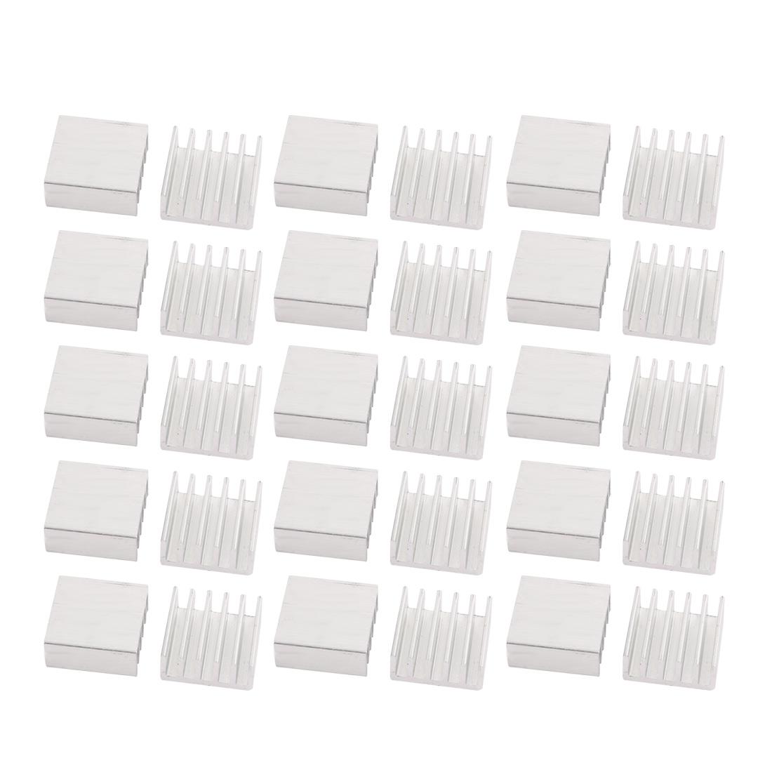30pcs 14mmx14mmx6mm Aluminum Heatsink Heat Diffuse Cooling Fin