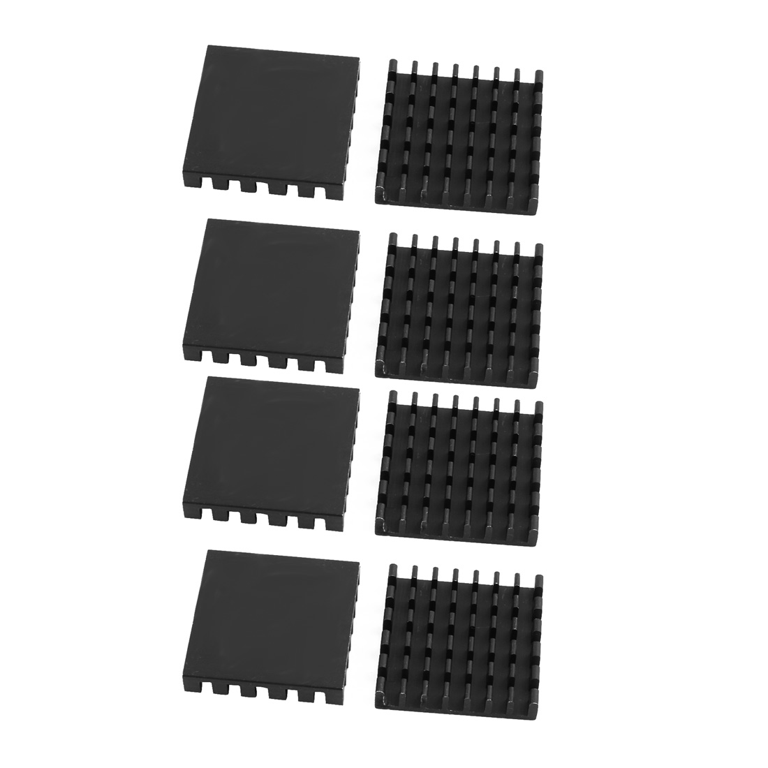 8pcs 25mmx25mmx5mm Black Aluminum Heatsink Heat Diffuse Cooling Fin