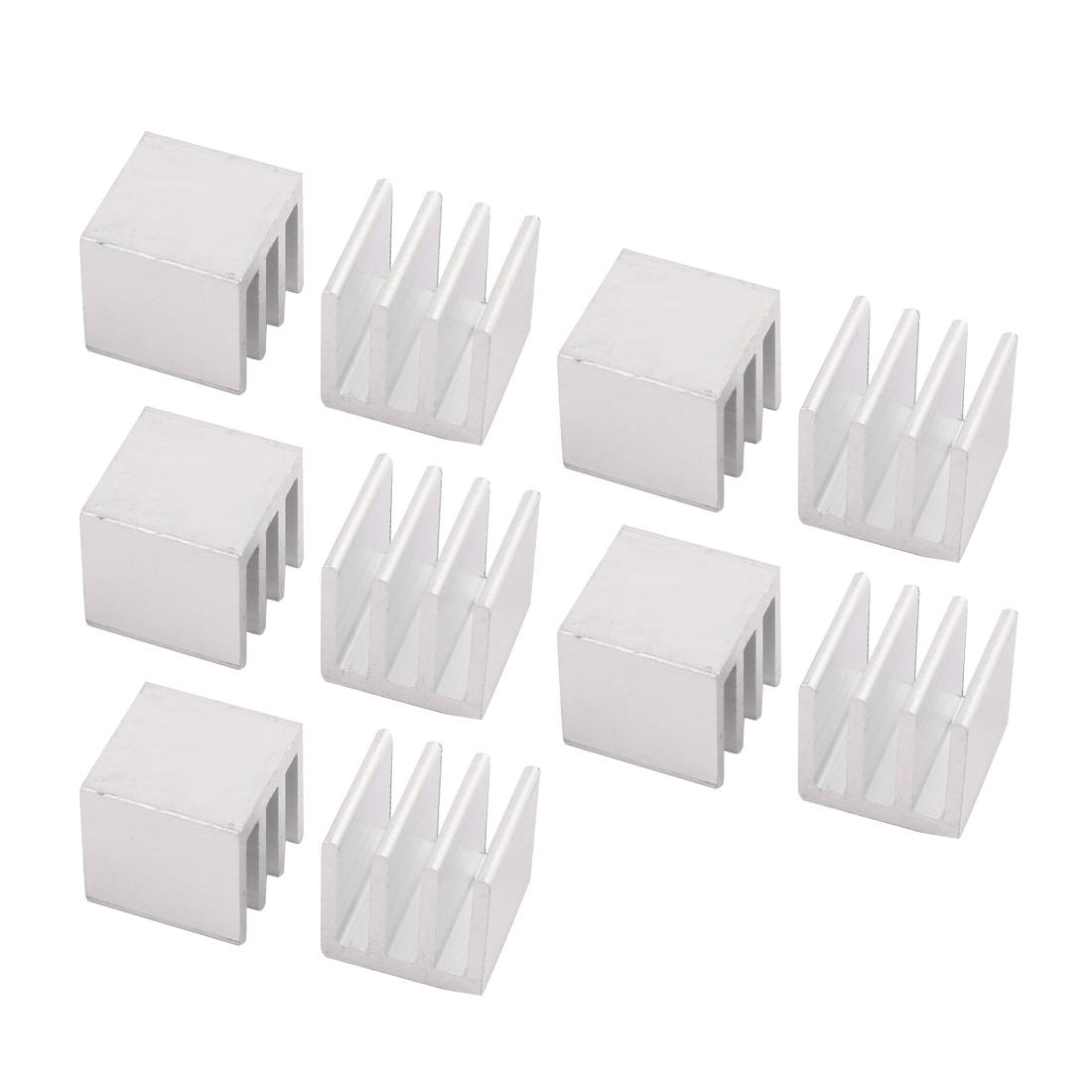 10pcs 10mmx10mmx10mm Aluminum Heatsink Heat Diffuse Cooling Fin