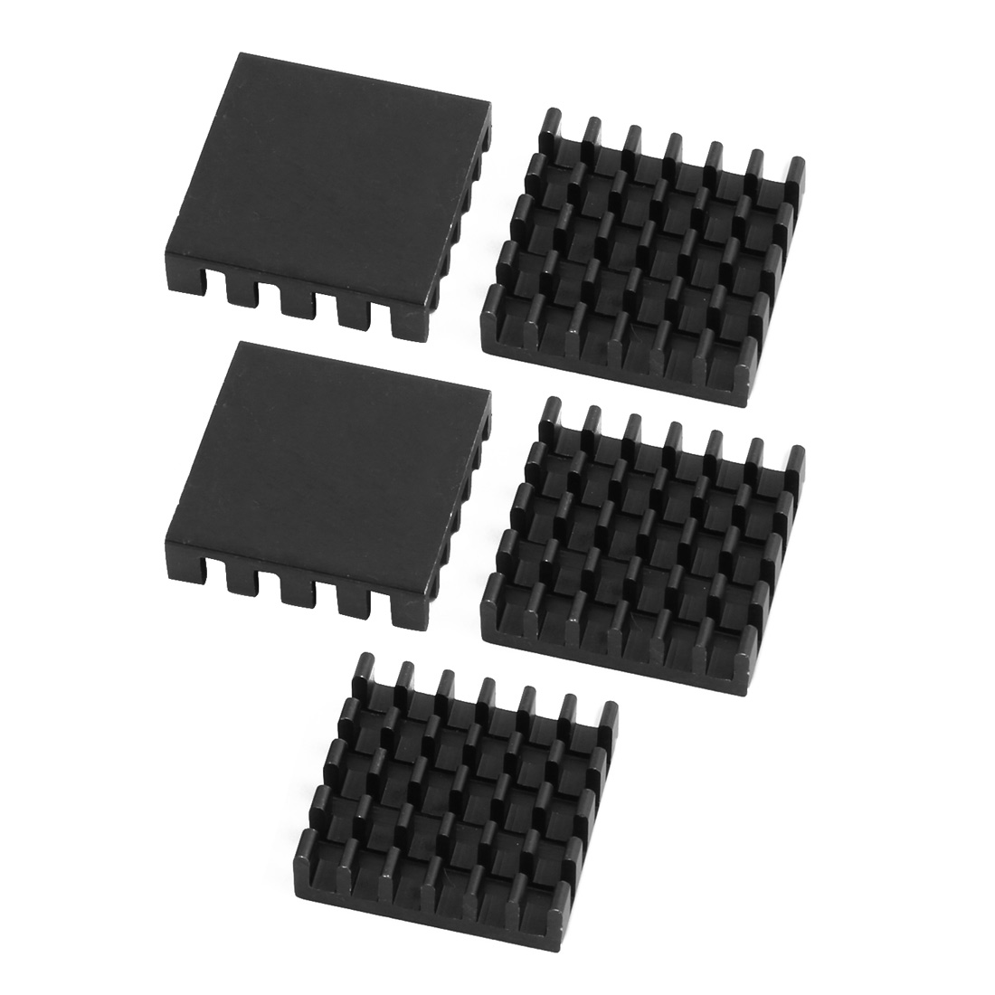 5pcs 19mmx19mmx5mm Black Aluminum Heatsink Heat Diffuse Cooling Fin