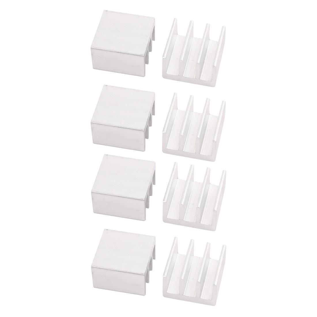 8pcs 16mmx16mmx10mm Aluminum Heatsink Heat Diffuse Cooling Fin