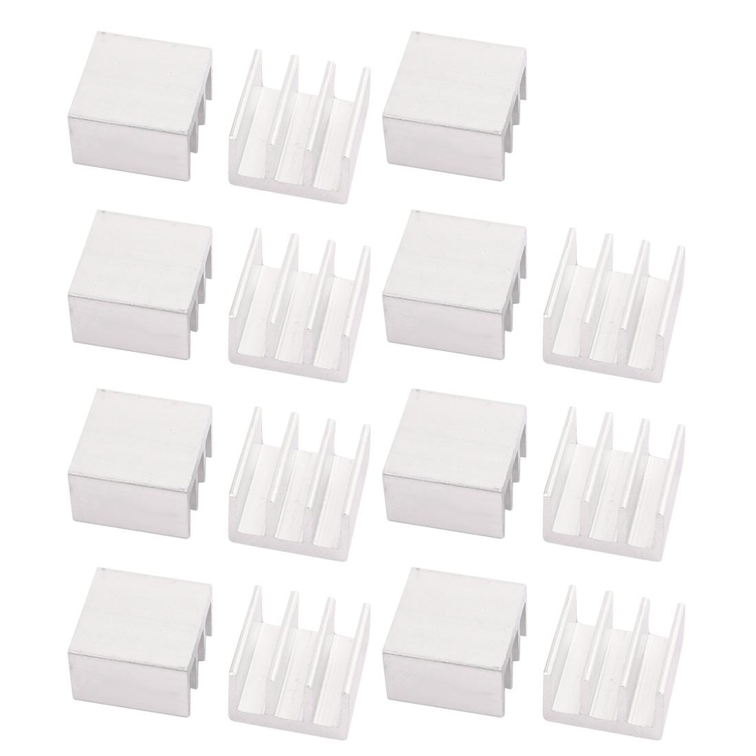 15pcs 16mmx16mmx10mm Aluminum Heatsink Heat Diffuse Cooling Fin