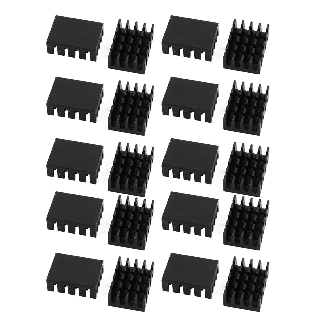 20pcs 20mmx14mmx7mm Black Aluminum Heatsink Heat Diffuse Cooling Fin