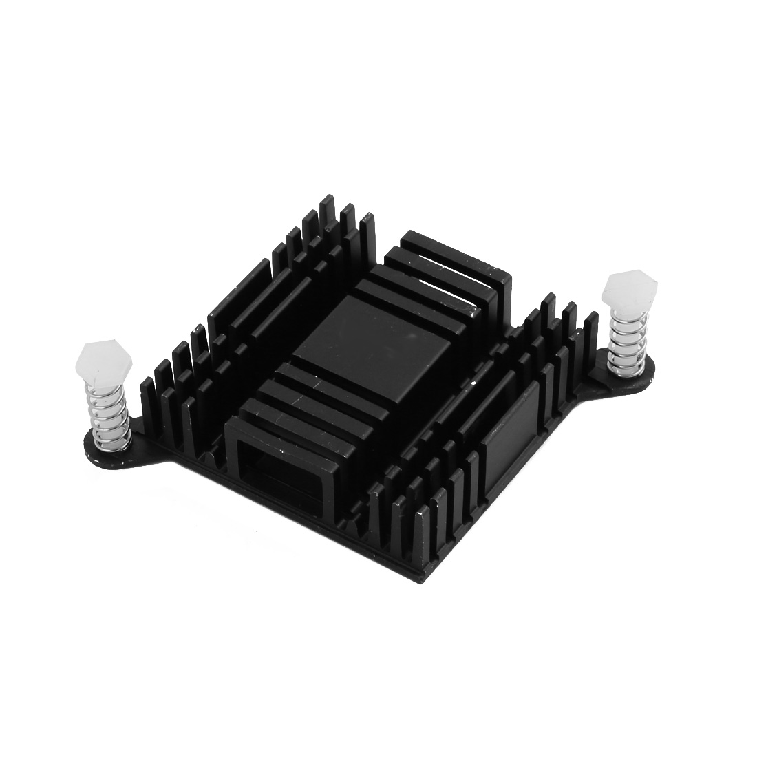 38mmx38mmx10mm Black Aluminum Heatsink Heat Diffuse Cooling Fin