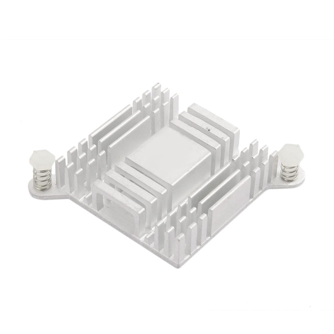 38mmx38mmx10mm White Aluminum Heatsink Heat Diffuse Cooling Fin