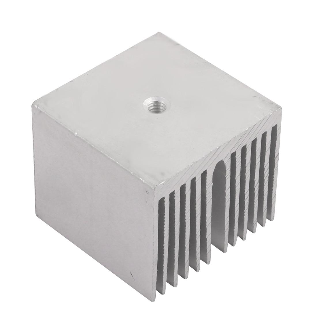 35mm x 35mm x 30mm Aluminum Heatsink Radiator Cooling Fin Silver Tone