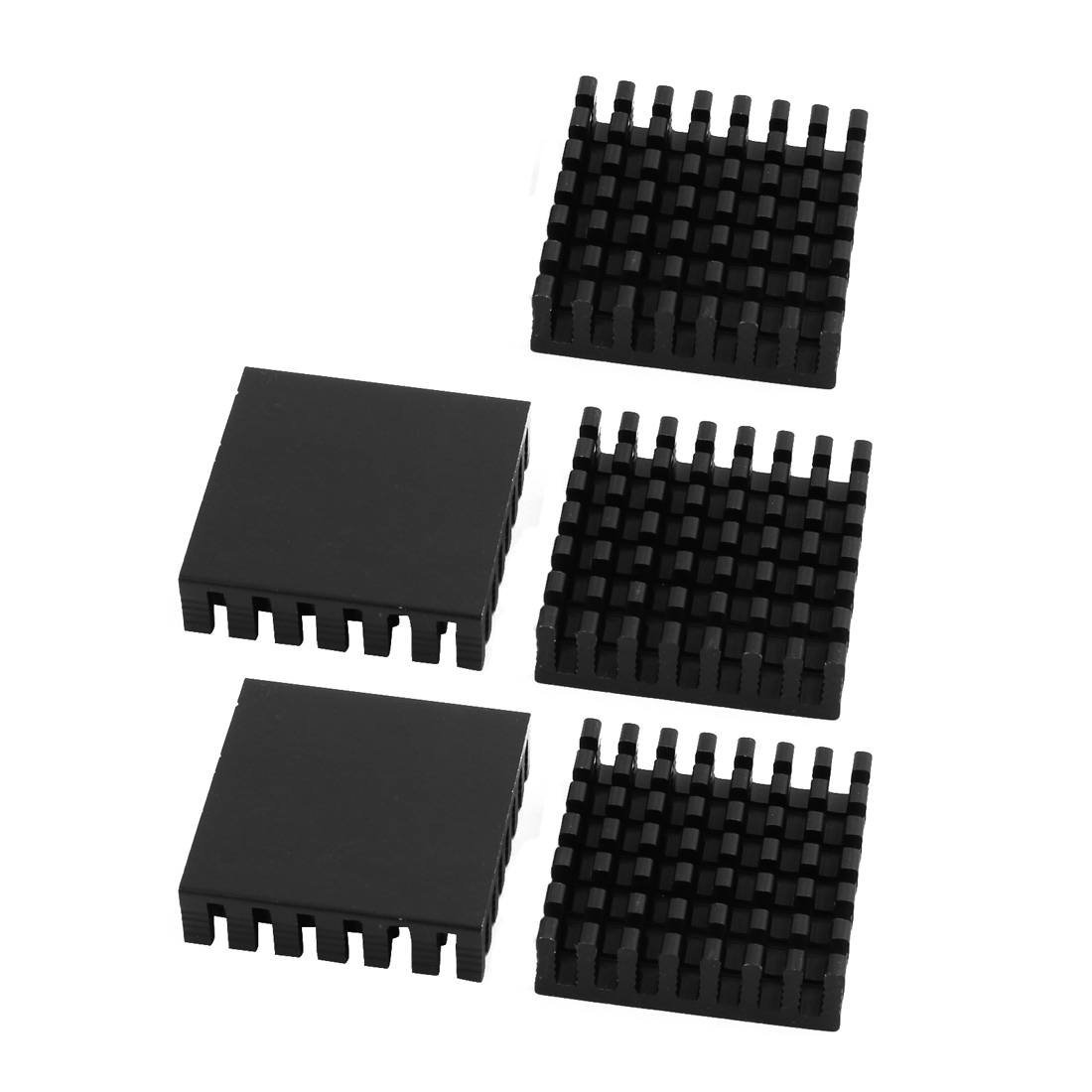 5Pcs 28mm x 28mm x 8mm Aluminum Heatsink Heat Diffuse Cooling Fin Black