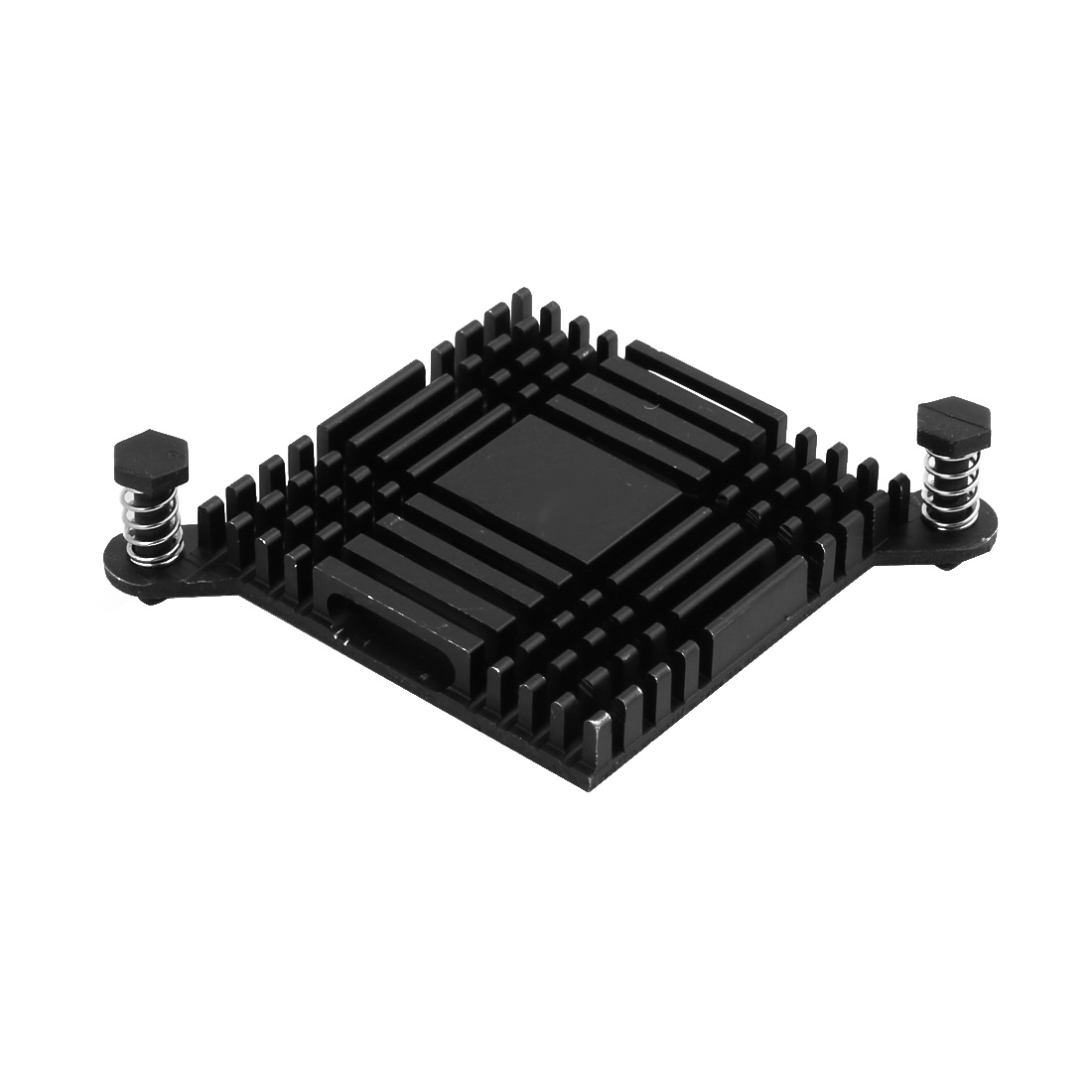 38mmx38mmx6mm Black Aluminum Heatsink Heat Diffuse Cooling Fin