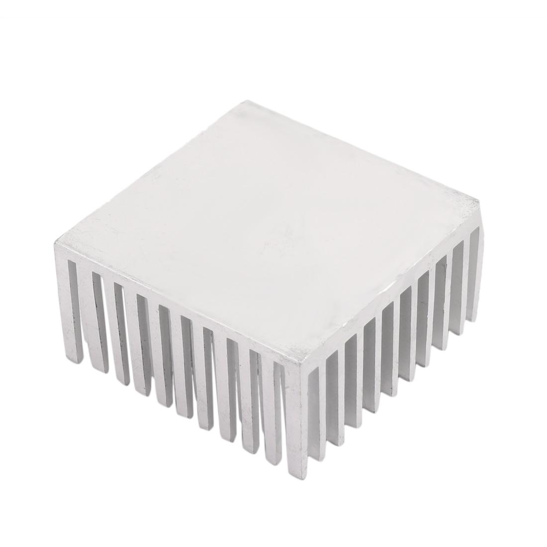 40mm x 40mm x 20mm Aluminum Heatsink Heat Diffuse Cooling Fin Silver Tone