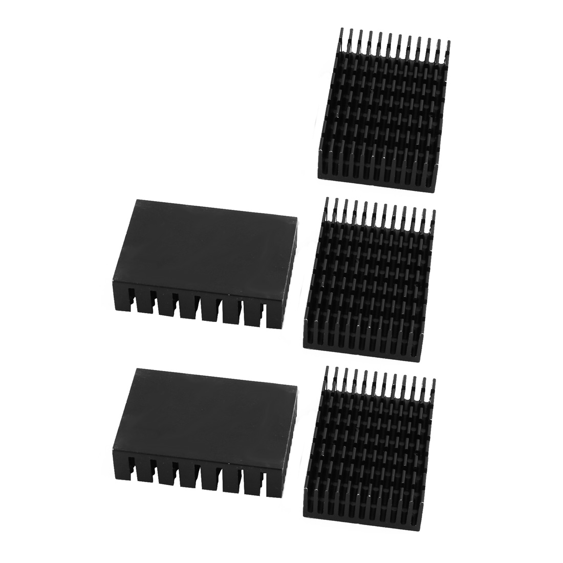 5pcs 45mmx31mmx12mm Black Aluminum Heatsink Heat Diffuse Cooling Fin