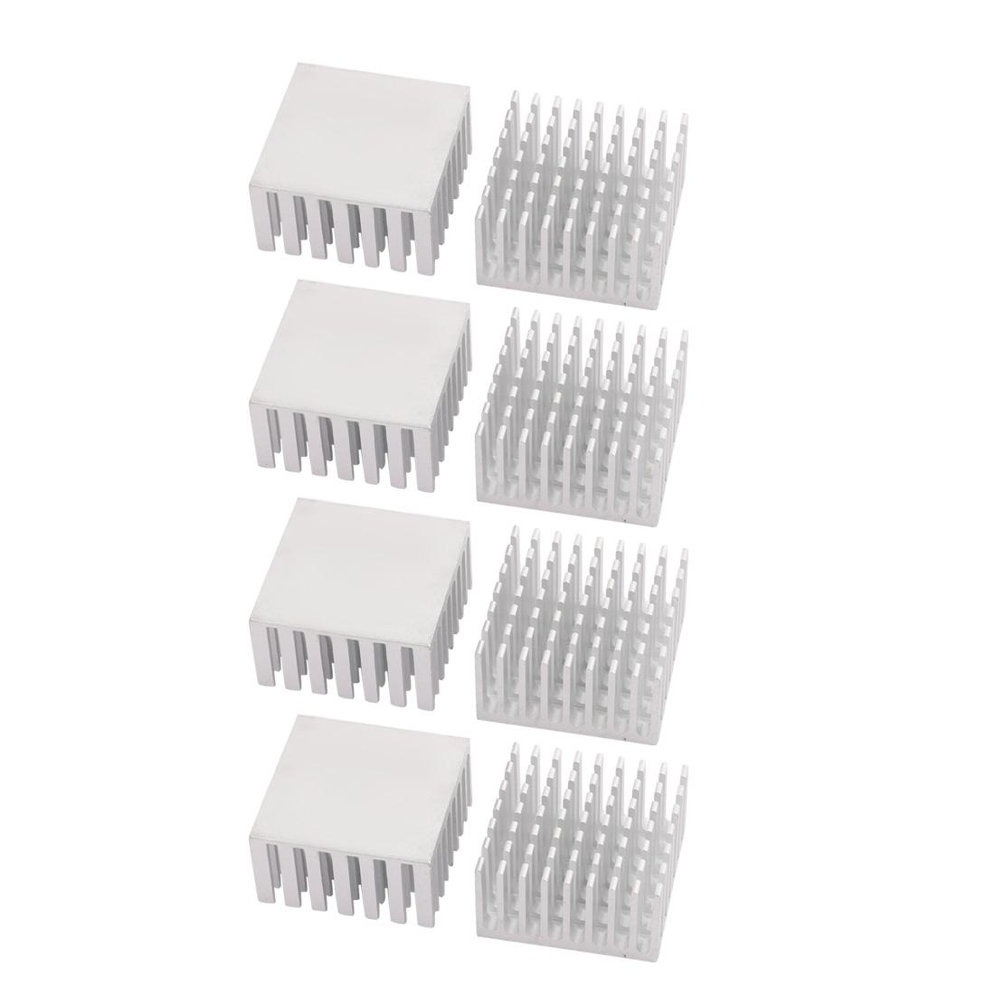 8pcs 28mmx28mmx15mm Aluminum Heatsink Heat Diffuse Cooling Fin
