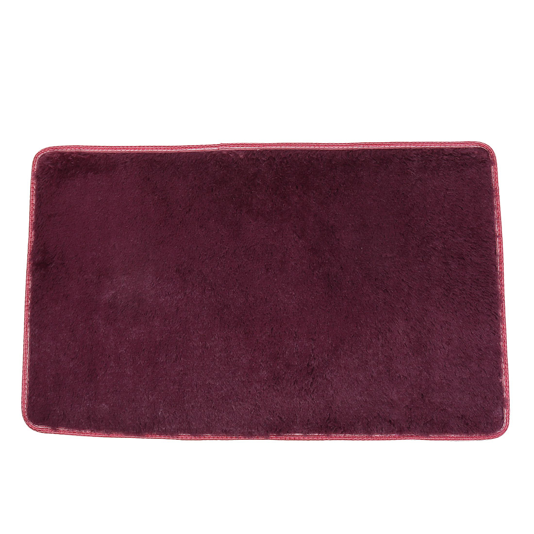 Home Plush Rectangle Anti-slip Floor Rug Carpet Cushion Doormat Burgundy 80cm x 50cm