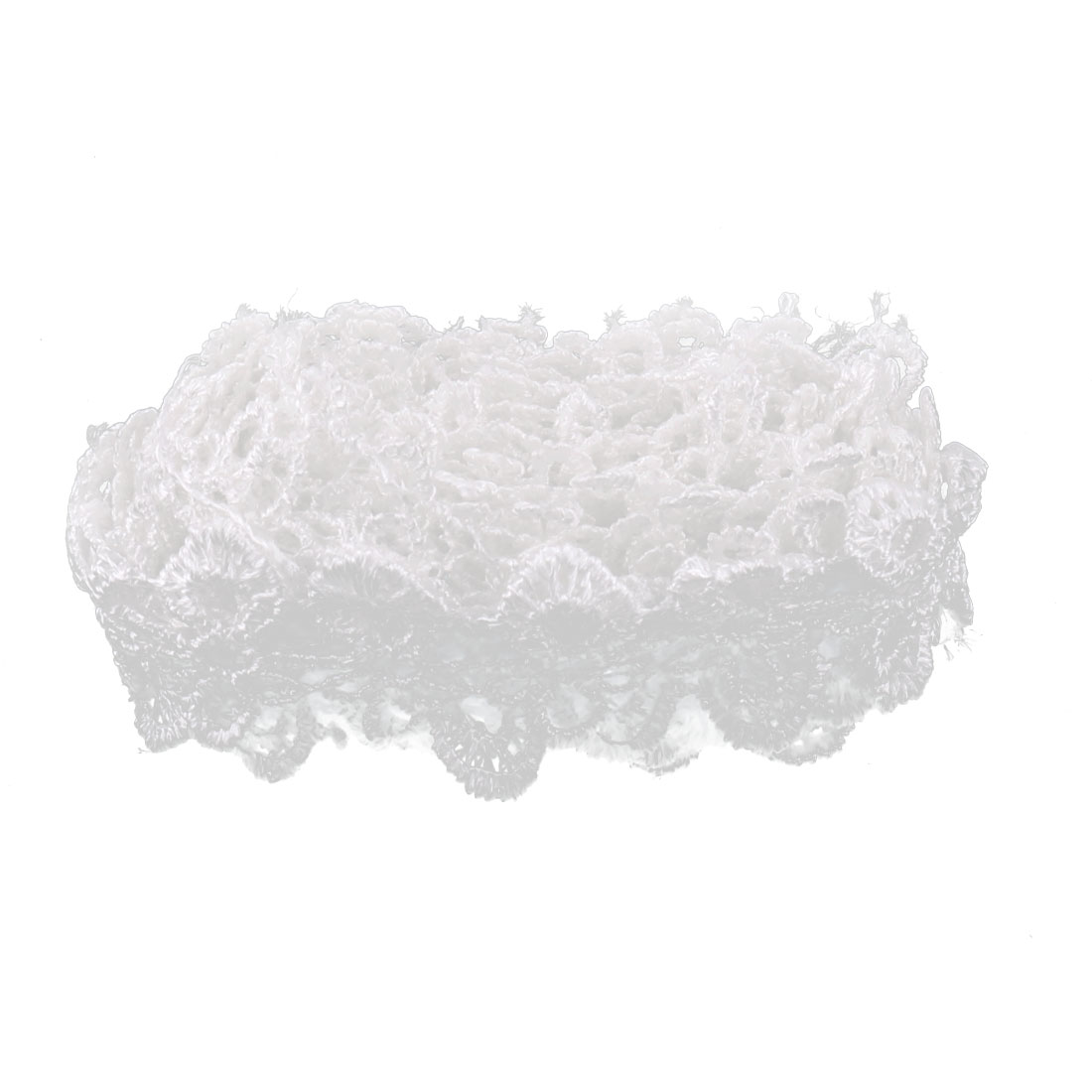 Bride Polyester Skirt Dress Headband Handcraft Sewing DIY Decor Lace Trim White