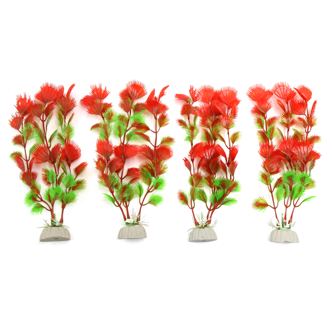 4pcs Plastic Aquarium Plants Fish Tank Water Plant Decorative Landscape