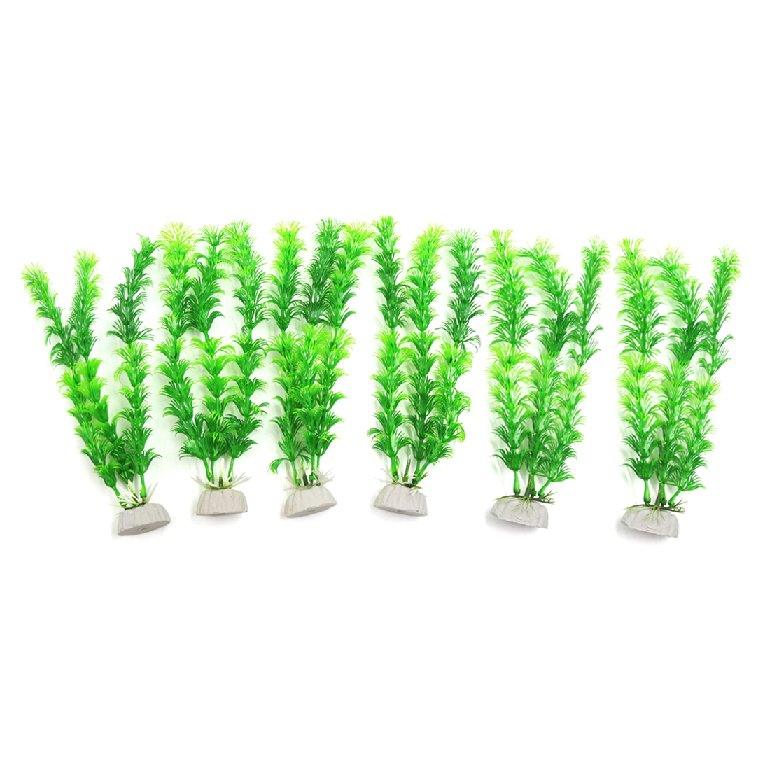 6pcs Green Plastic Aquarium Plants Fish Tank Water Plant Decoration Ornament