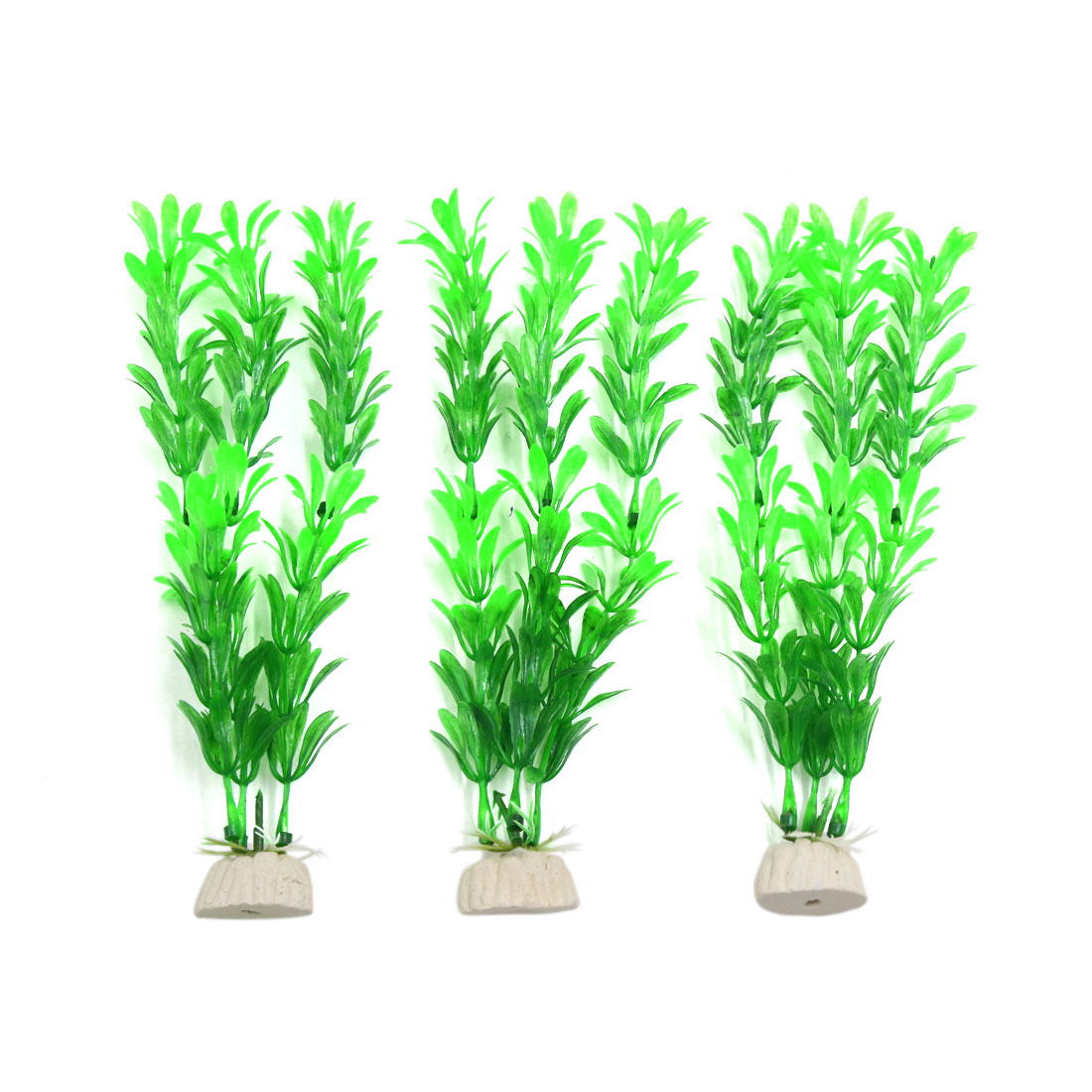 3pcs Green Plastic Aquarium Grass Plants Fish Tank Water Plant Decor Ornament
