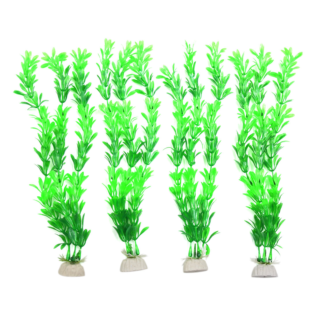 4pcs Plastic Aquarium Fish Tank Aquatic Underwater Plant Ornament