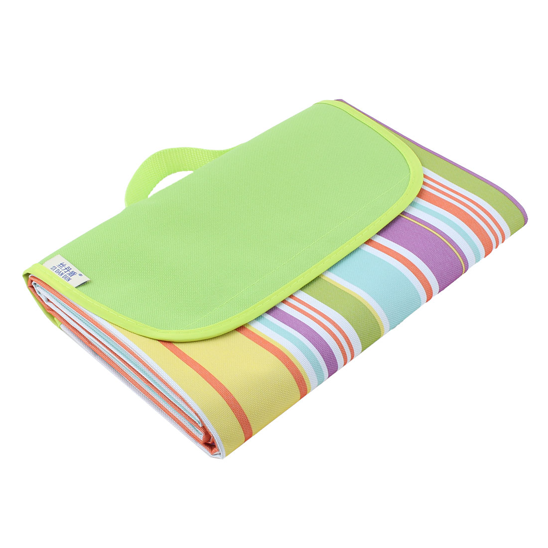Beach Hiking Stripe Pattern Foldable Outdoor Camping Mat Rug Picnic Blanket
