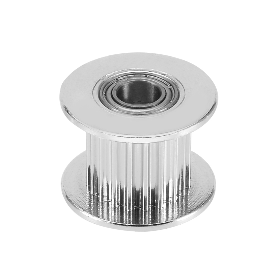 3D Printer Aluminum GT2 20T 5mm Bore Timing Idler Pulley Flange with Dual Ball Bearings for 10mm Timing Belt