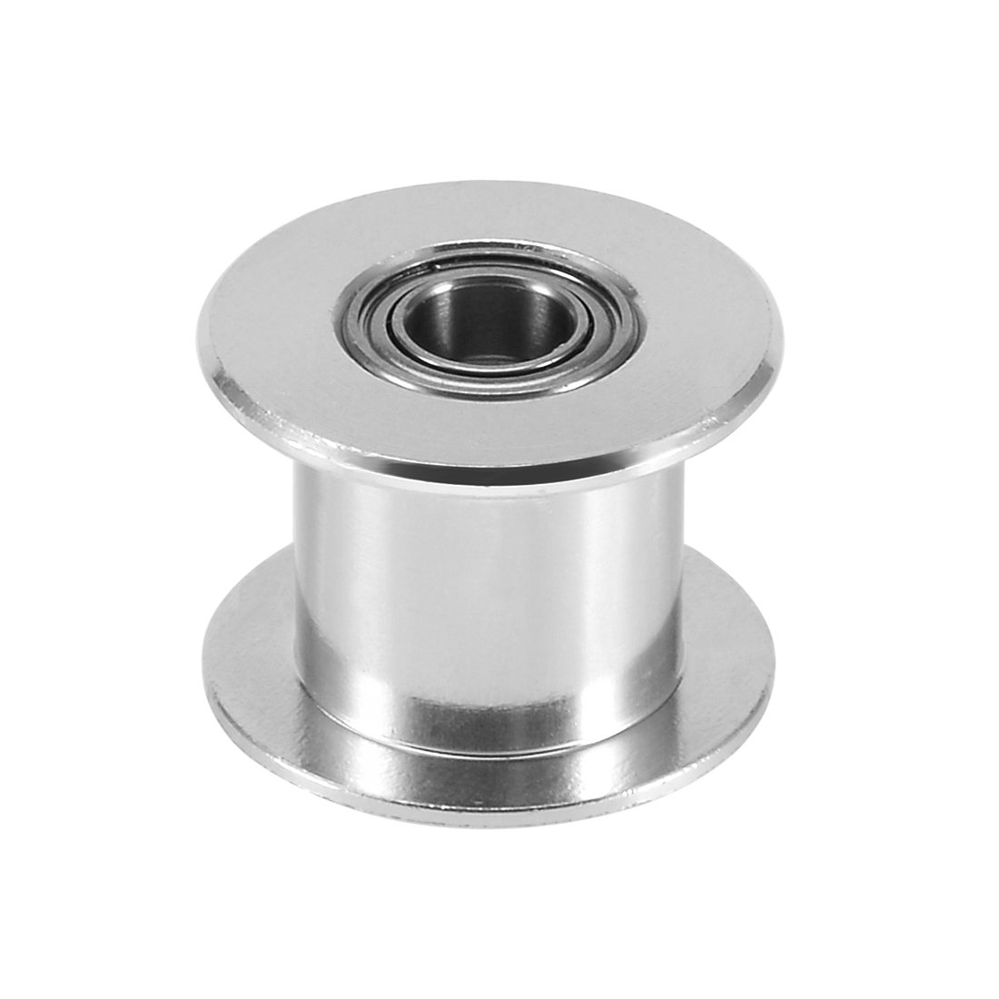 Aluminum GT2 5mm Bore Toothless Timing Belt Idler Pulley Flange with Ball Bearings for 3D Printer