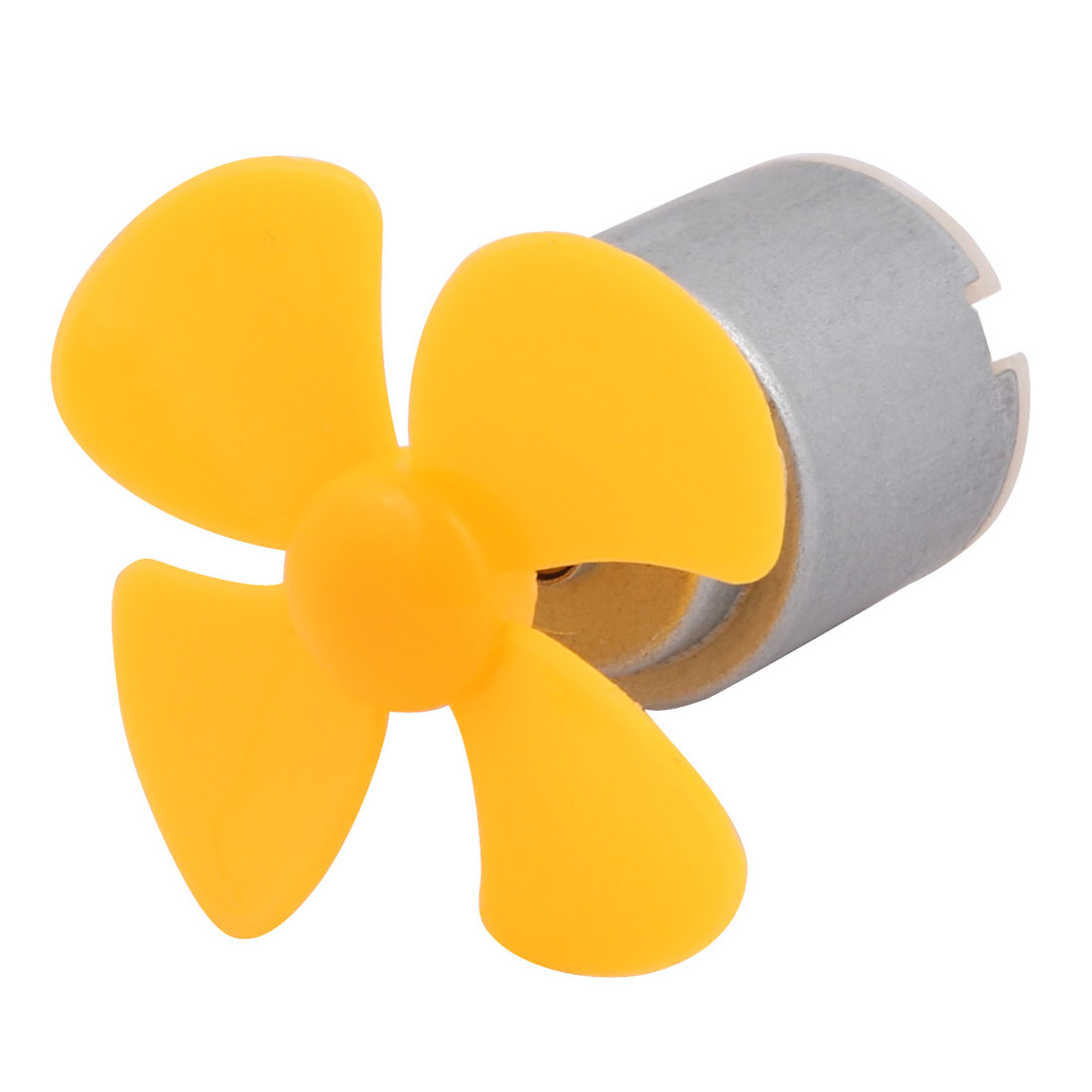 DC 3V 13000RPM High Torque Motor 4 Vanes 40mm Dia Plastic DIY Propeller Yellow