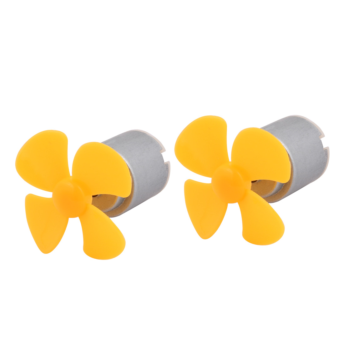 2Pcs DC1.5V 2000RPM High Torque Motor 4 Vanes 40mm Dia Aircraft Propeller Yellow