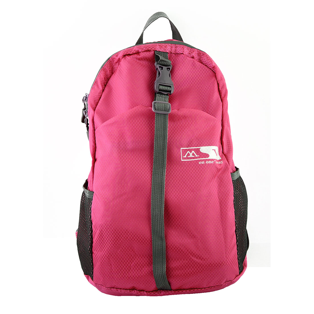 Lightweight Foldable Pack Hiking Camping Daypack Water Resistant Travel Backpack Sport Bag Fuchsia 20L