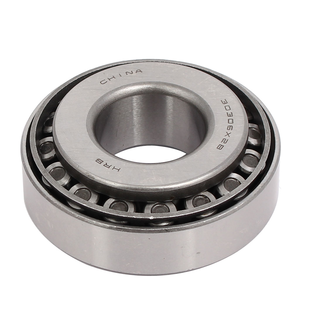 30306X2B 72mmx30mmx25mm Single Row Tapered Roller Bearing Silver Tone
