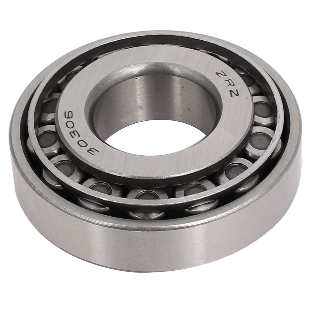 72mmx30mmx25mm 30306 Single Row Tapered Roller Bearing Silver Tone