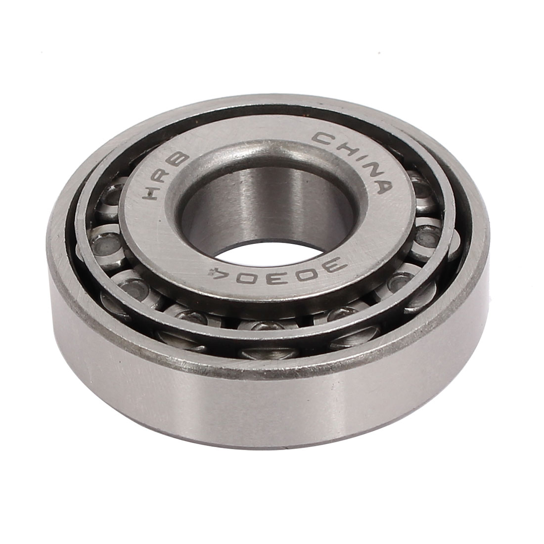 52mmx20mmx16mm 30304 Single Row Tapered Roller Bearing Silver Tone