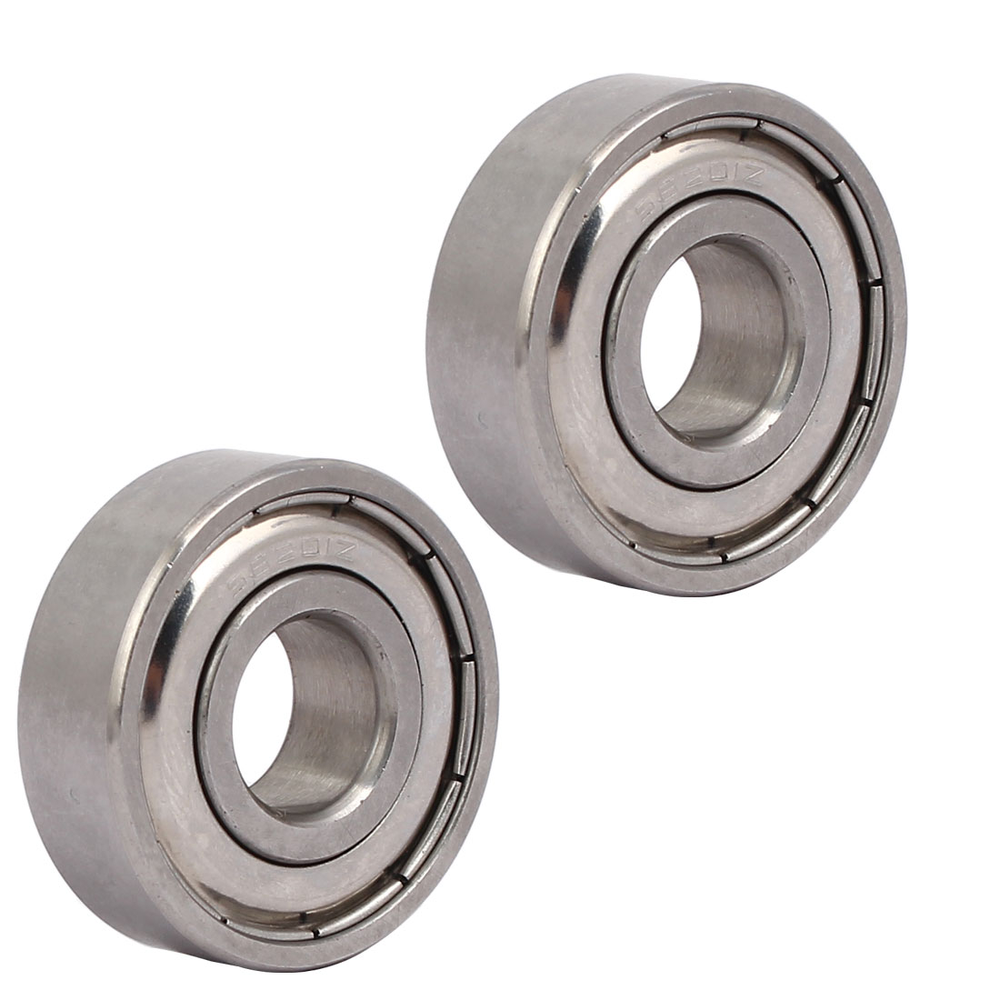 6201 32mmx12mmx10mm Stainless Steel Shielded Deep Groove Ball Bearing 2pcs