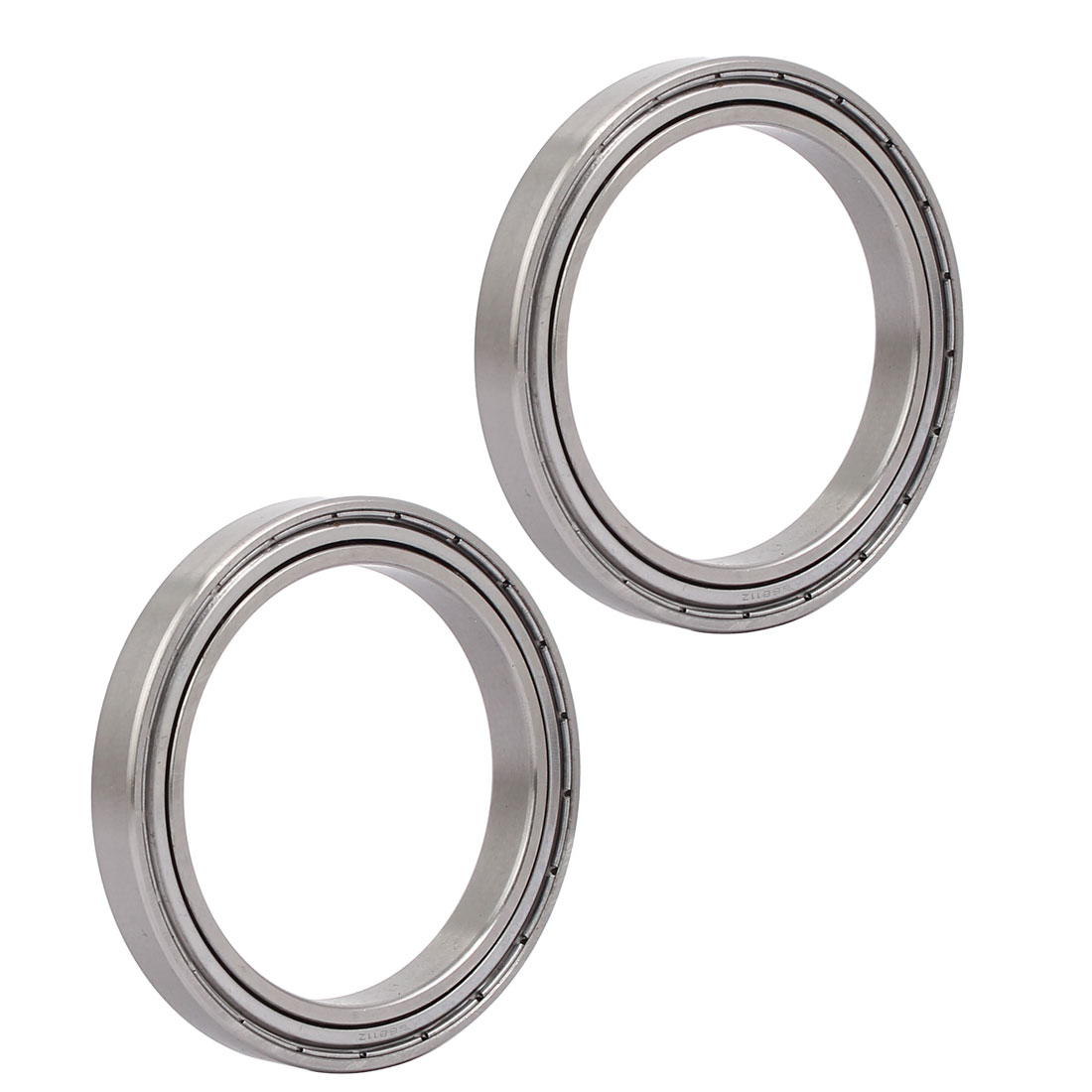 72mmx55mmx9mm 6811 Stainless Steel Shielded Deep Groove Ball Bearing 2pcs
