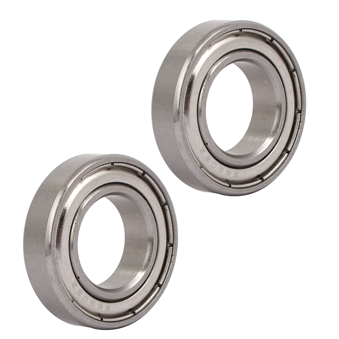 28mmx15mmx7mm 6902 Stainless Steel Shielded Deep Groove Ball Bearing 2pcs