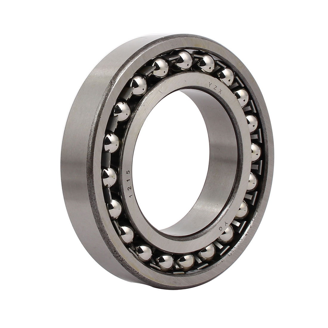 130mmx75mmx25mm 1215 Double Row Self-Aligning Ball Bearing Silver Tone