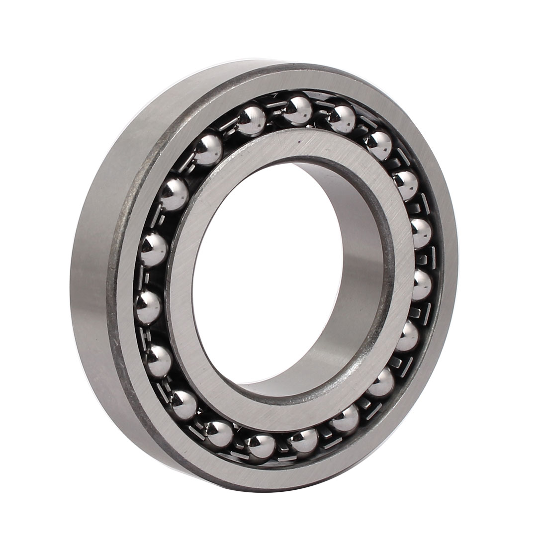 110mmx60mmx22mm 1212 Double Row Self-Aligning Ball Bearing Silver Tone