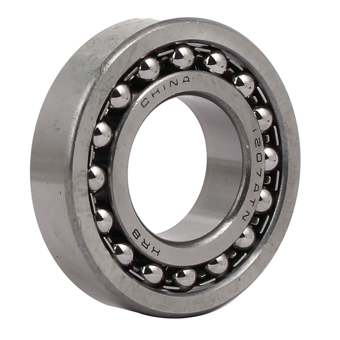 72mmx35mmx17mm 1207 Double Row Self-Aligning Ball Bearing Silver Tone