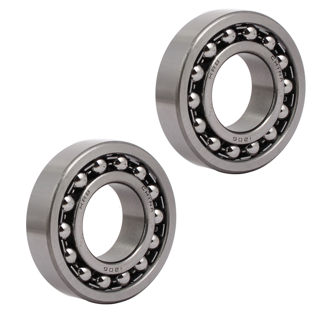 62mmx30mmx16mm 1206 Double Row Self-Aligning Ball Bearing 2pcs