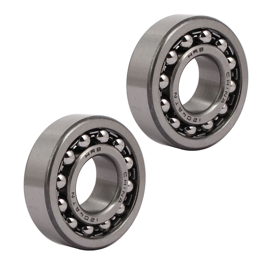 47mmx20mmx14mm 1204 Double Row Self-Aligning Ball Bearing 2pcs