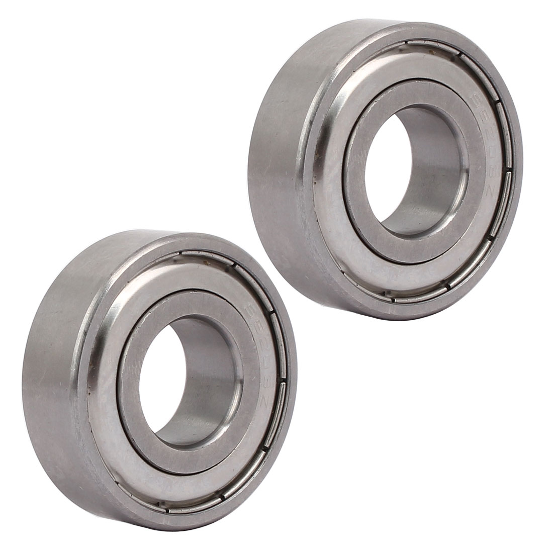 6203Z 40mmx17mmx12mm Stainless Steel Shielded Deep Groove Ball Bearing 2pcs
