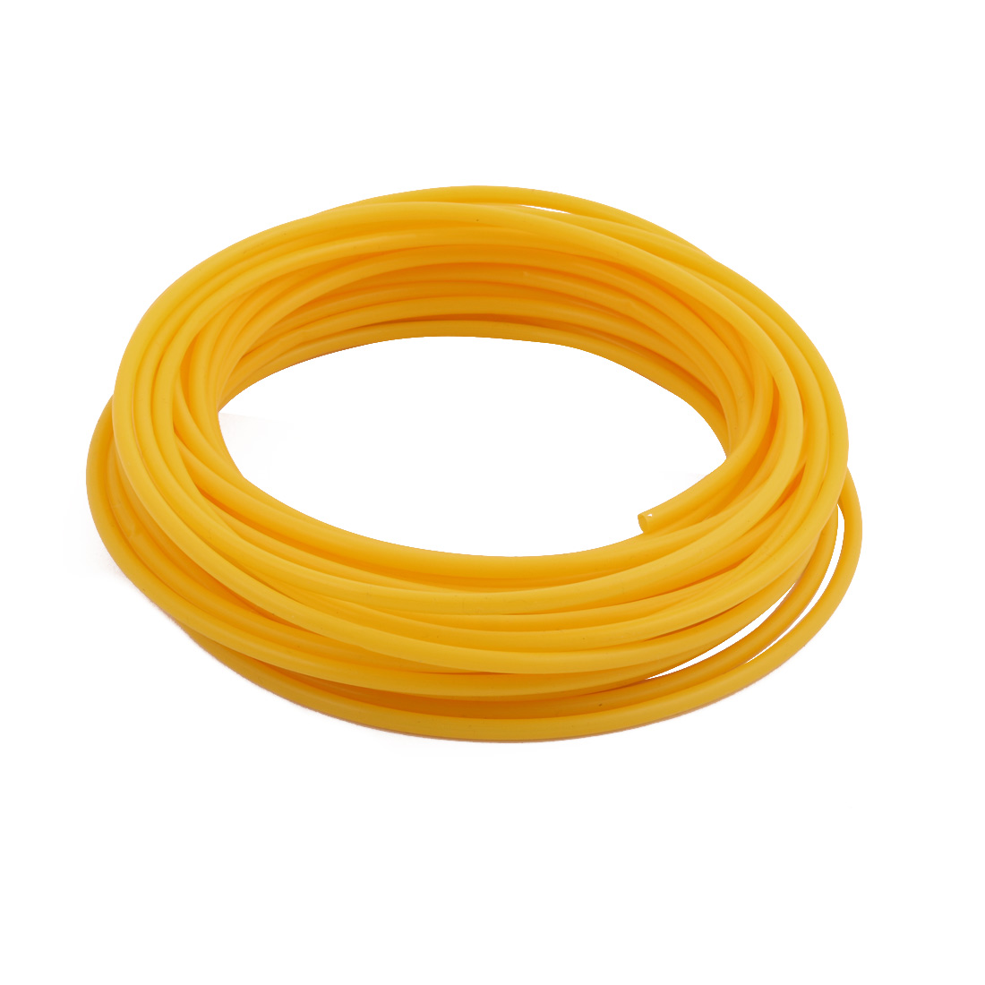 3.38mmx3.78mm PTFE Resistant High Temperature Yellow Tubing 10 Meters 32.8Ft