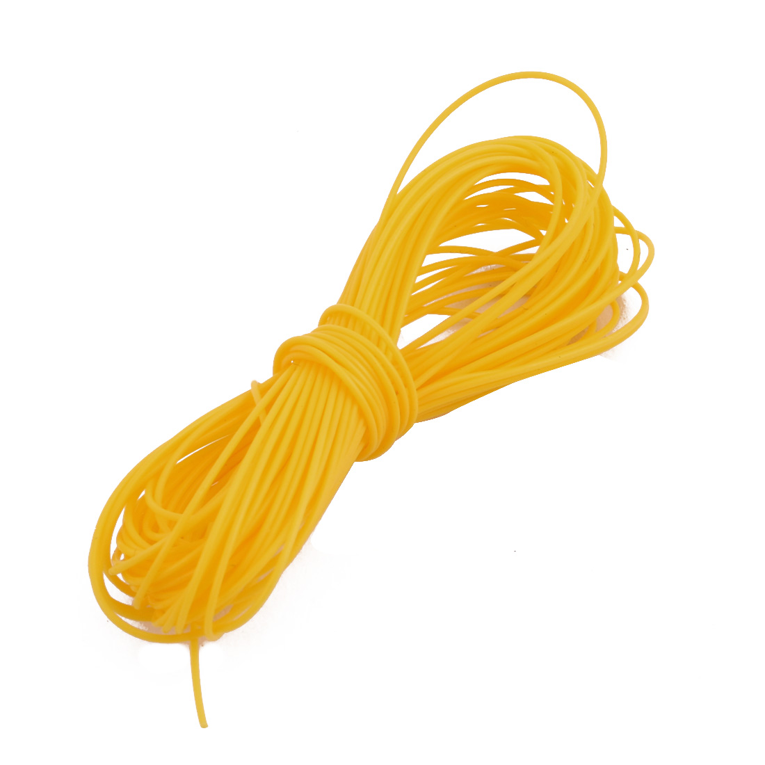 0.38mmx0.68mm PTFE Resistant High Temperature Yellow Tubing 5 Meters 16.4Ft