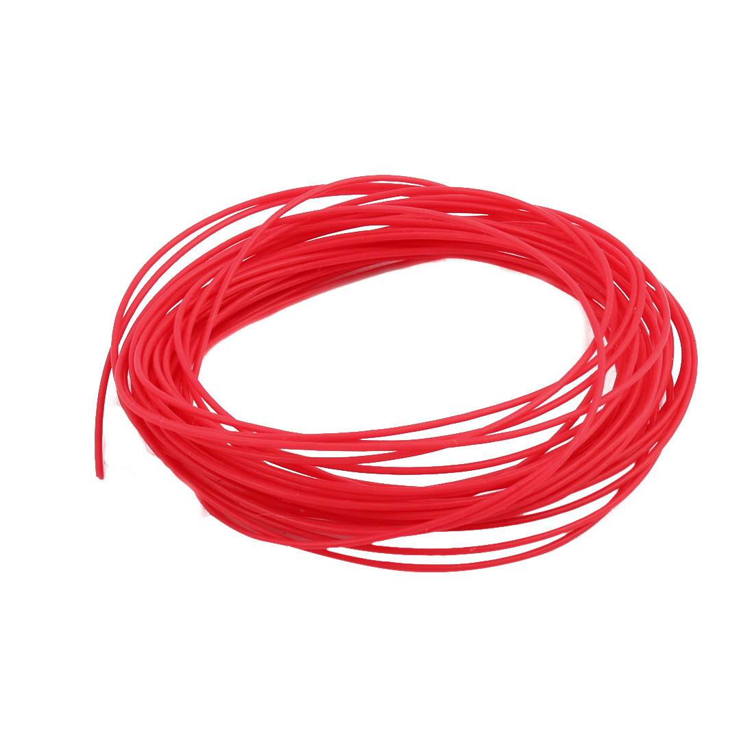 0.66mmx0.96mm PTFE Resistant High Temperature Red Tubing 5 Meters 16.4Ft