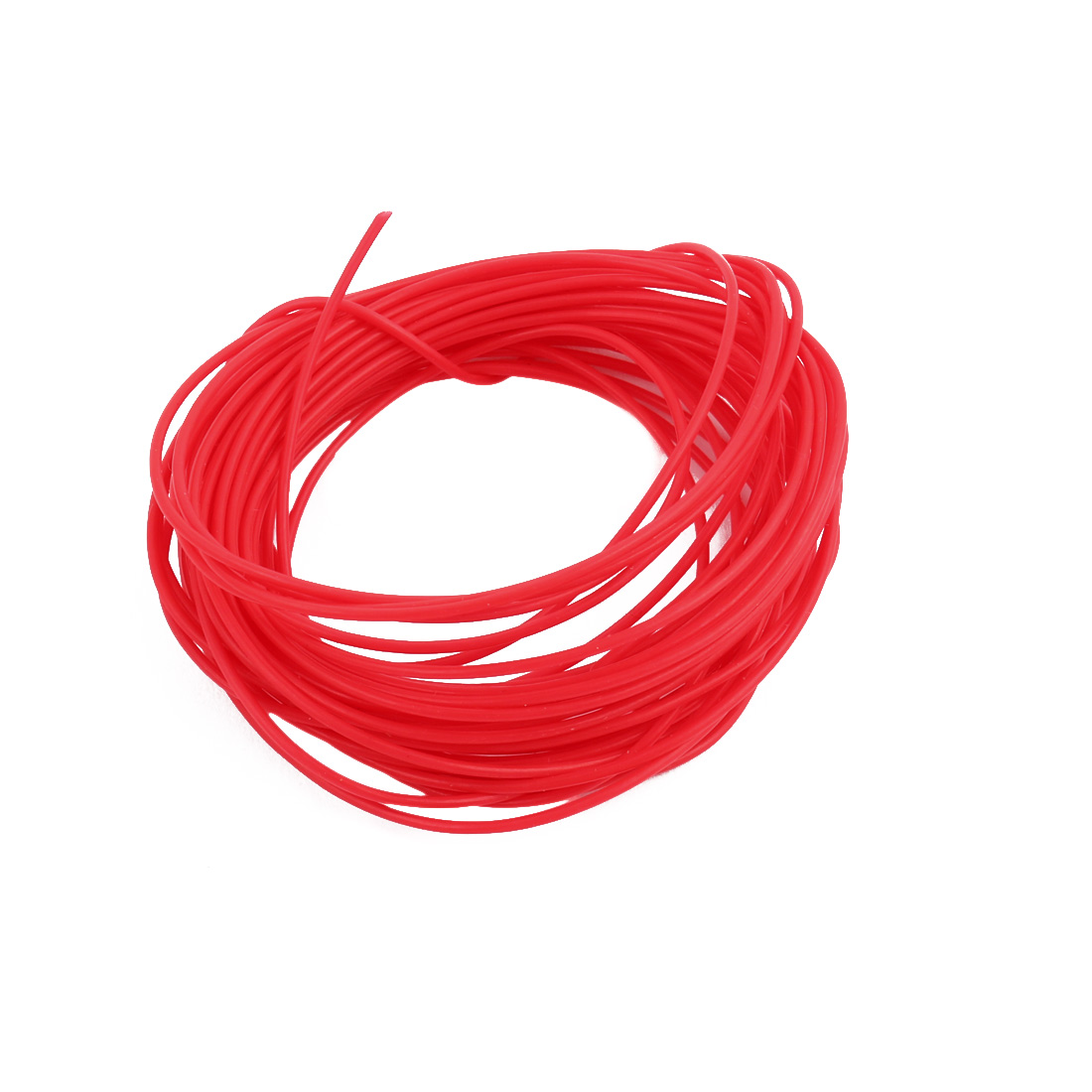 0.66mmx0.96mm PTFE Resistant High Temperature Red Tubing 10 Meters 32.8Ft