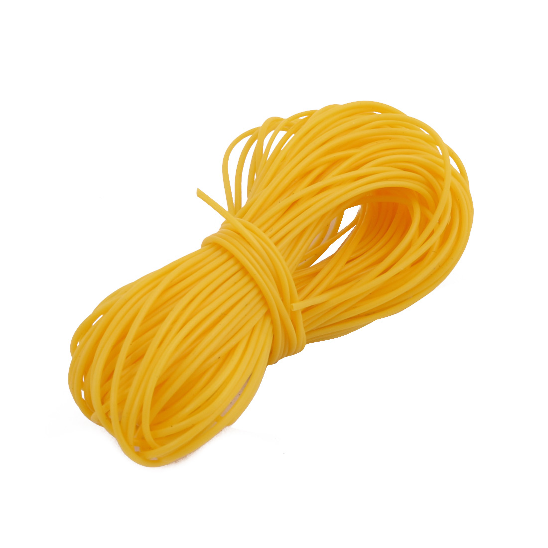 0.66mmx0.96mm PTFE Resistant High Temperature Yellow Tubing 10 Meters 32.8Ft